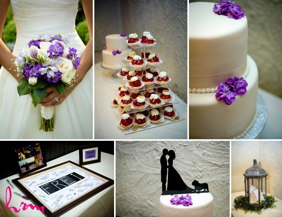 wedding day purple accents